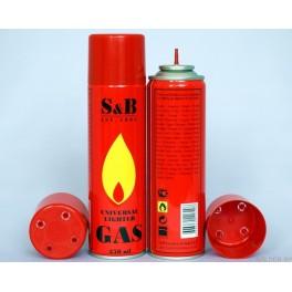 Газ для заправки зажигалок, горелок S&B (300мл)