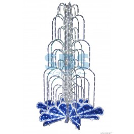 LED фонтан, высота 2.0, диаметр 1.3 метра (с контроллером) Синий