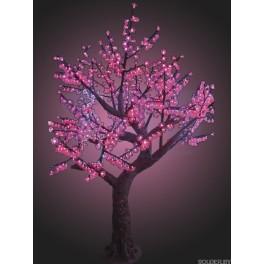 """Светодиодное дерево """"Азалия"""", высота 2.3 метра, розовые светодиоды, IP 54"""