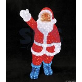 """Акриловая светодиодная фигура """"Санта Клаус"""" 210см, IP44 понижающий трансформатор в комплекте"""